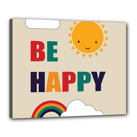 Be Happy Canvas 20  x 16  (Framed) by Kathrinlegg