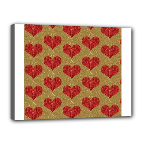Sparkle Heart  Canvas 16  X 12  (framed) by Kathrinlegg