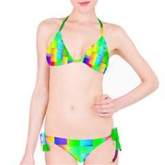 Colorful Gradient Shapes Bikini Set by LalyLauraFLM