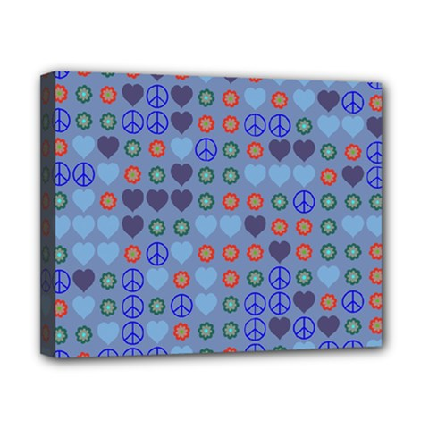 Peace And Love Canvas 10  X 8  (stretched) by LalyLauraFLM