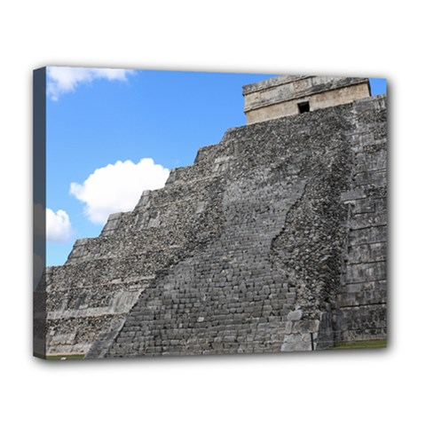 Chichen Itza Temple Of Kukulcan South West View Canvas 14  X 11  (framed) by stineshop