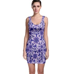 Decorative Floral Print Bodycon Dress