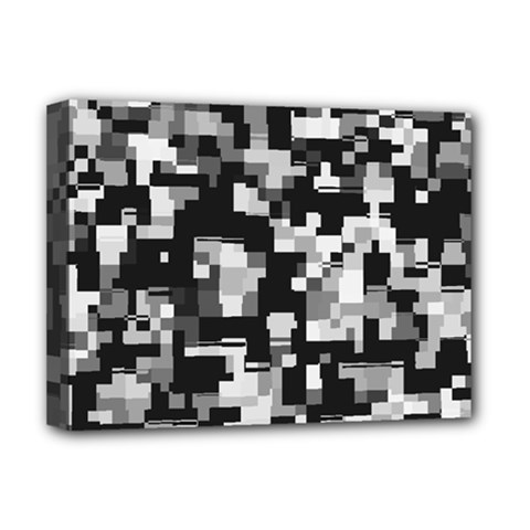 Background Noise In Black & White Deluxe Canvas 16  X 12  (framed)  by StuffOrSomething