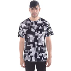Background Noise In Black & White Men s Sport Mesh Tee by StuffOrSomething