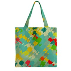 Smudged Shapes Grocery Tote Bag by LalyLauraFLM