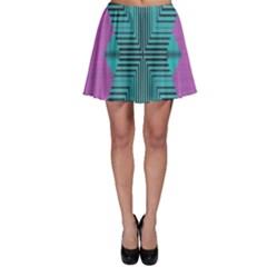 Tribal Purple Rhombusskater Skirt