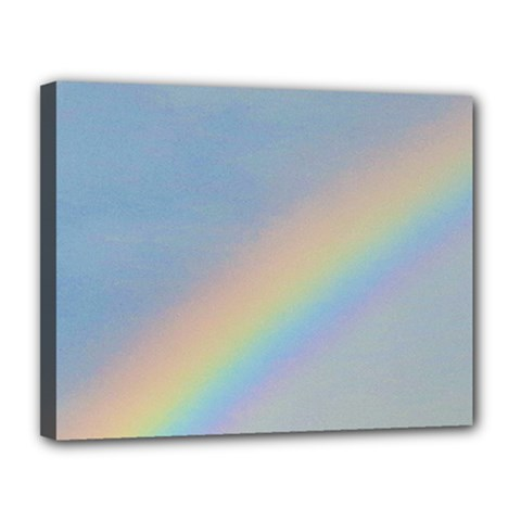 Rainbow Canvas 14  X 11  (framed)