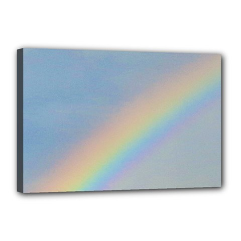Rainbow Canvas 18  x 12  (Framed) by yoursparklingshop
