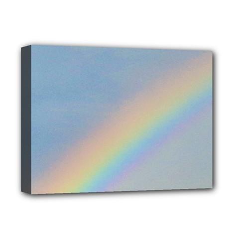 Rainbow Deluxe Canvas 16  X 12  (framed)