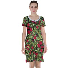 Floral Collage Print Short Sleeve Nightdress
