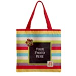 Summer Fun zipper tote - Zipper Grocery Tote Bag