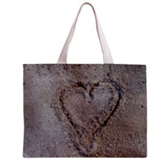 Heart In The Sand Tiny Tote Bag by yoursparklingshop
