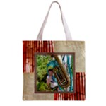 Coral Bamboo Shopper Tote - Grocery Tote Bag