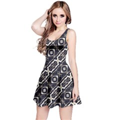 Retro Decorative Pattern Reversible Sleeveless Dress by dflcprintsclothing