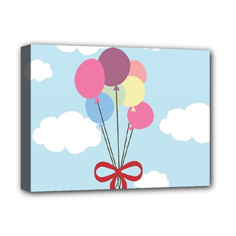 Balloons Deluxe Canvas 16  X 12  (framed)  by Kathrinlegg