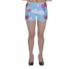 Balloons Skinny Shorts by Kathrinlegg