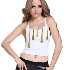 Gold Glitter Paint Women s Spaghetti Strap Bra Top by Kathrinlegg