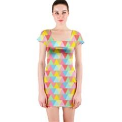 Triangle Pattern Short Sleeve Bodycon Dress by Kathrinlegg