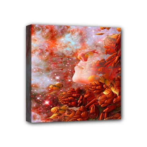 Star Dream Mini Canvas 4  X 4  (framed) by icarusismartdesigns