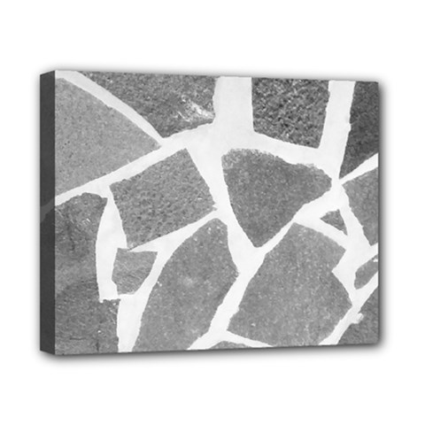 Grey White Tiles Pattern Canvas 10  X 8  (framed)