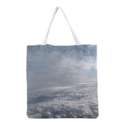 Sky Plane View Grocery Tote Bag