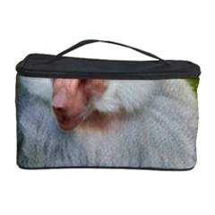 Grey Monkey Macaque Cosmetic Storage Case by yoursparklingshop