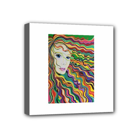 Inspirational Girl Mini Canvas 4  X 4  (framed)