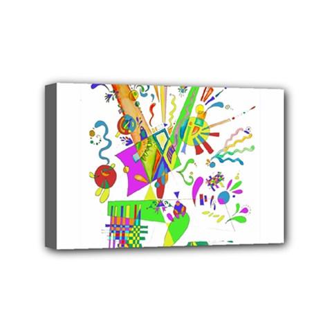 Splatter Life Mini Canvas 6  X 4  (framed) by sjart