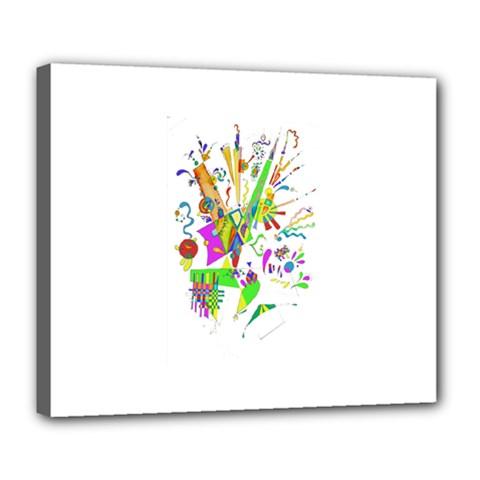 Splatter Life Deluxe Canvas 24  X 20  (framed) by sjart