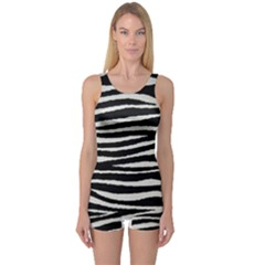 Black White Tiger  Women s Boyleg One Piece Swimsuit