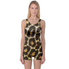Cheetah Abstract  Women s Boyleg One Piece Swimsuit by OCDesignss