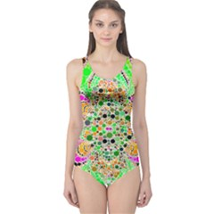 Florescent Abstract  Women s One Piece Swimsuit