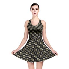 Angels Skull Pattern Reversible Skater Dress by dflcprintsclothing