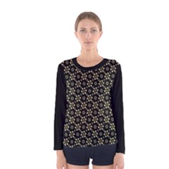 Angels Skull Pattern Women s Long Sleeve T Shirt by dflcprintsclothing