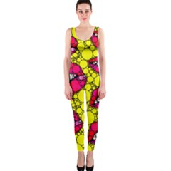 Sassy Lips Abstract OnePiece Catsuit by OCDesignss