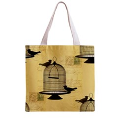 Victorian Birdcage Grocery Tote Bag
