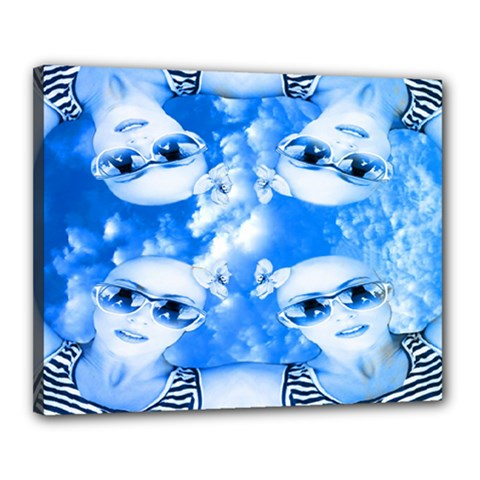 Skydivers Canvas 20  x 16  (Framed) by icarusismartdesigns