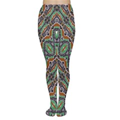 Colorful Tribal Geometric Print Tights by dflcprintsclothing