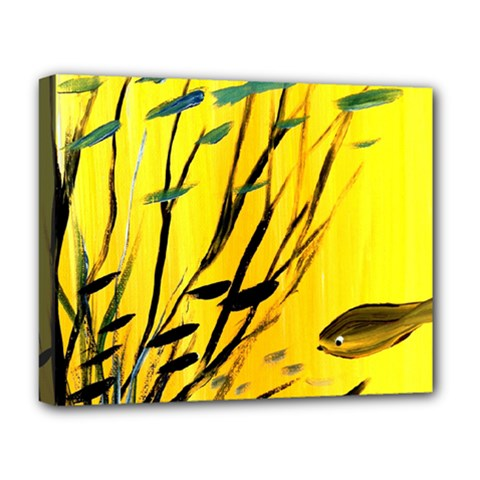 Yellow Dream Deluxe Canvas 20  X 16  (framed) by pwpmall