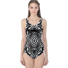Zebra Twists  Women s One Piece Swimsuit