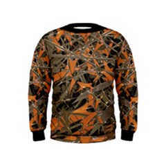 Intricate Abstract Print Kid s Sweatshirt by dflcprintsclothing