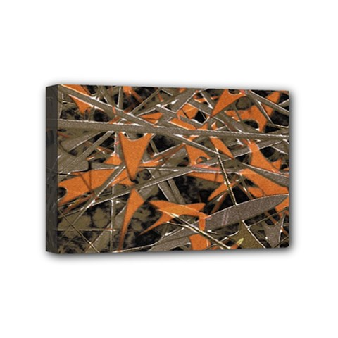 Intricate Abstract Print Mini Canvas 6  X 4  (framed)