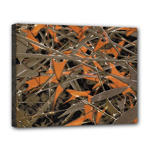 Intricate Abstract Print Canvas 14  X 11  (framed) by dflcprints