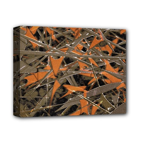 Intricate Abstract Print Deluxe Canvas 14  X 11  (framed) by dflcprints