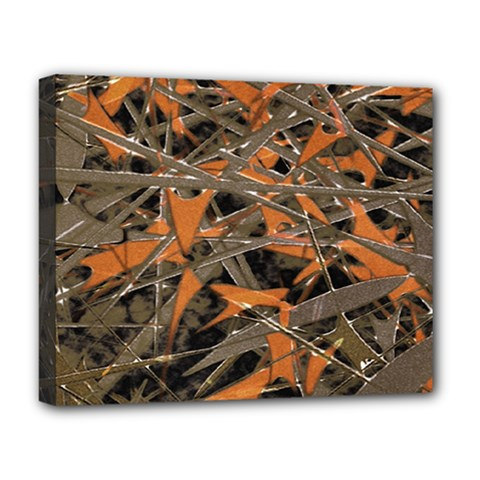 Intricate Abstract Print Deluxe Canvas 20  X 16  (framed) by dflcprints