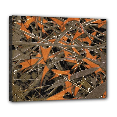 Intricate Abstract Print Deluxe Canvas 24  X 20  (framed) by dflcprints
