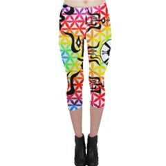 Shamanatrix Galactic Flower * Capri Leggings by Shamanatrix
