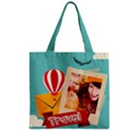 travel - Zipper Grocery Tote Bag