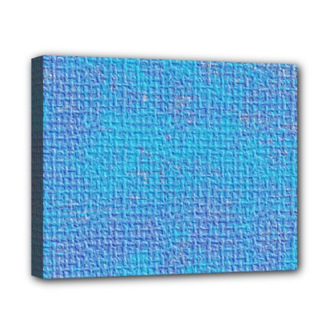 Textured Blue & Purple Abstract Canvas 10  X 8  (framed) by StuffOrSomething