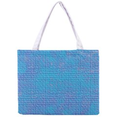 Textured Blue & Purple Abstract Tiny Tote Bag by StuffOrSomething